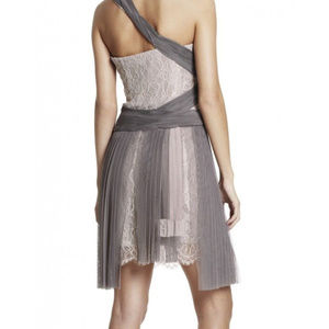 BCBG MAXAZRIA Runway Pleated Bare Pink 8 #352 Dresses - BCBG MAXAZRIA Runway Pleated Bare Pink 8 #352